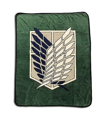 AU55.42 • Buy Attack On Titan Throw Blanket - Scout Regiment Wings Of Freedom Anime Throw Bla