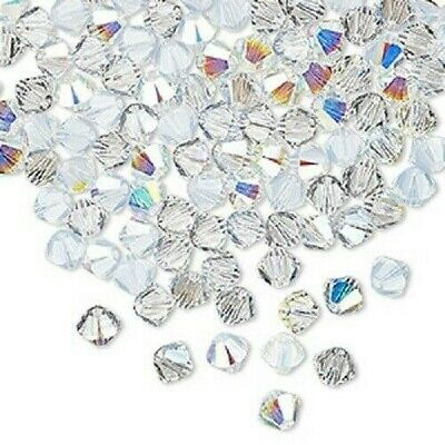 $6.99 • Buy 48 Crystal Passions® Swarovski® Crystals Frost AB 4mm Xilion Bicone Beads