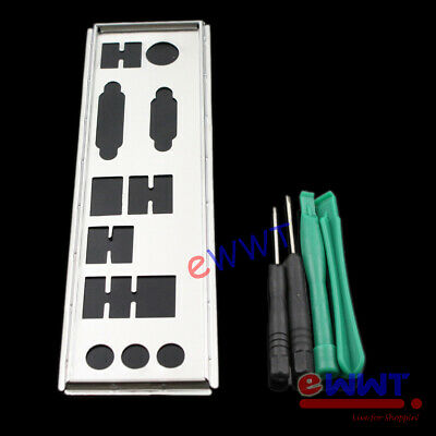 AU8.49 • Buy Silver IO Shield Back Plate Cover+Tool For MSI B350M Bazooka MotherBoard ZVOP304