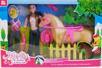 Doll And Horse Play Set With Accessories - Kids Fun Pony Gift Toy  • 19.99£