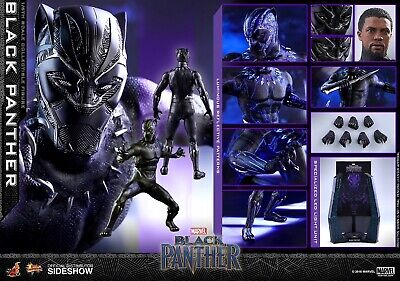 $ CDN333.23 • Buy HOT TOYS MARVEL BLACK PANTHER CHADWICK BOSEMAN 1:6 FIGURE ~Sealed In Brown Box~