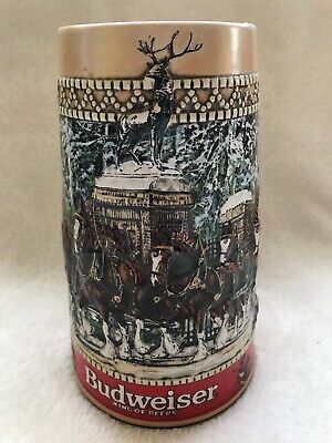 $ CDN11.13 • Buy BUDWEISER KING OF BEERS CLYDESDALE HORSES BEER STEIN MUG 1987 Collectible