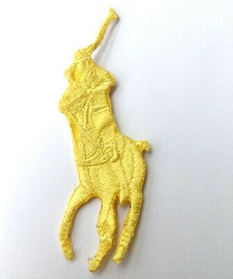 Ralph Lauren Polo Logo Sew On Iron On Embroidered Patch - Yellow • 1.90£