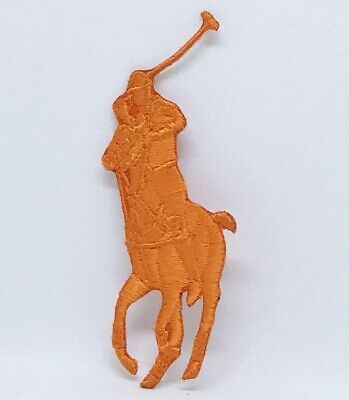 Ralph Lauren Polo Logo Sew On Iron On Embroidered Patch - Orange • 1.99£