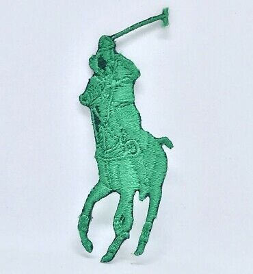 Ralph Lauren Polo Logo Sew On Iron On Embroidered Patch - Green • 1.99£