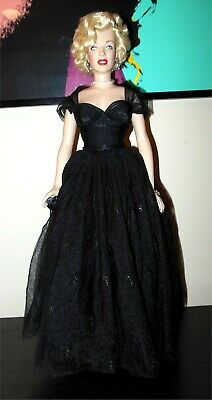 MARILYN MONROE Franklin Mint 16  AWARDS NIGHT Vinyl Doll With Stand • 154.41£