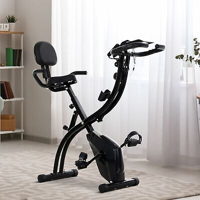£99.99 • Buy Folding Exercise Bike Upright Cycling Magnetic W/Resistance Band