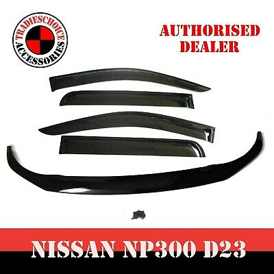 AU119.99 • Buy For Navara NP300 D23 Bonnet Protector Guard And Weather Shields Visors 2014-2020