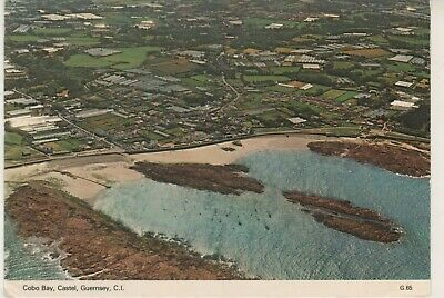 Guernsey. Castel. Cobo Bay.  1979 Dennis Postcard In Fair Con. Aerial. Used.  • 2.25£