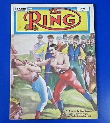 $12 • Buy June 1951 Ring Magazine ~ John L. Sullivan Cover ~  Original Vintage Boxing