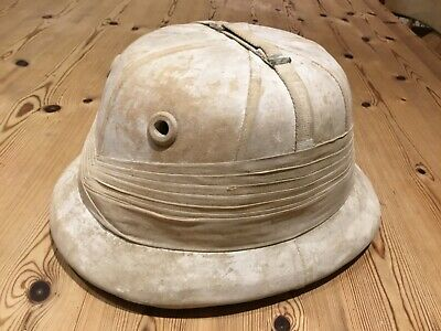 Early Post WW1 Tropical Cork Lined RAF Officers Flying Pith Helmet • 21£