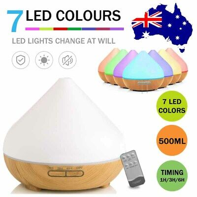 AU15.99 • Buy 500ml Essential Oil Aroma Diffuser LED Ultrasonic Air Aromatherapy Humidifier