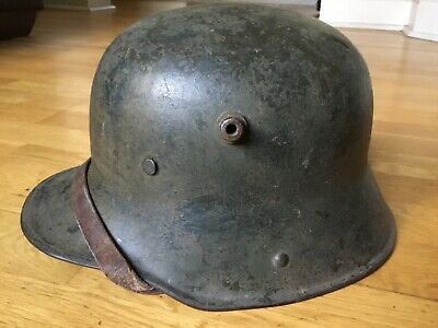 WW1 Rare Original German Camouflaged Combat Helmet With Liner Stamped GBN 64 • 215£