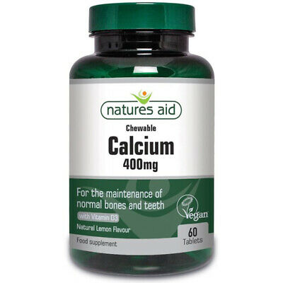 Natures Aid Chewable Calcium 400mg - 60 Tablets • 7.55£