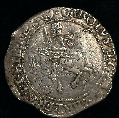Halfcrown Charles I Hammered 1644 - 5 Mm (R) Under Parliament (T115)  • 279.99£