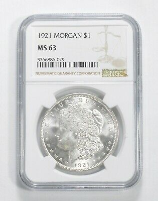 $42.95 • Buy MS63 1921 Morgan Silver Dollar - Graded NGC Last Year Morgan!