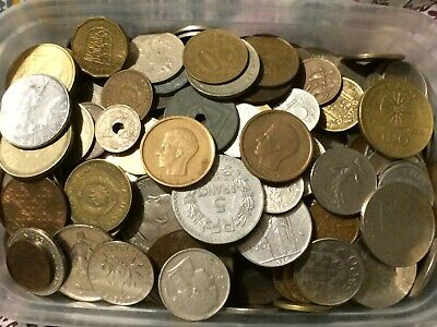 Nice Old Job Lot Mainly Foreign Coins Approx 1.8Kg • 0.99£