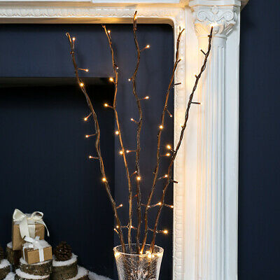 £17.99 • Buy 5 X 87cm Plug In Twig Branch Decoration With LED Fairy Lights | Home Indoor Vase