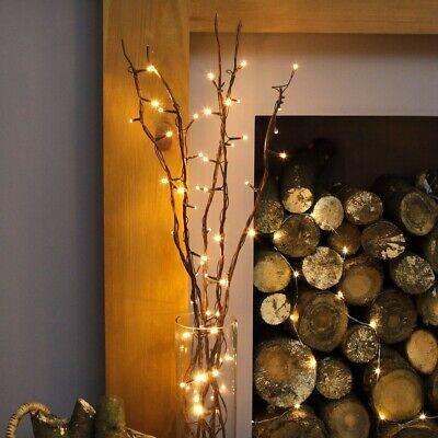 87cm Plug In Twig Branch Decoration With LED Fairy Lights | Home Indoor Vase • 17.99£