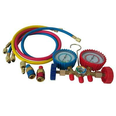$22.23 • Buy R12 R22 R134a R404A Manifold Gauge Set HVAC A/C Charging Service With 3 Hoses
