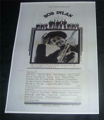 £4.95 • Buy Bob Dylan Isle Of Wight Festival 1969 Concert Poster  A3 Size Reproduction