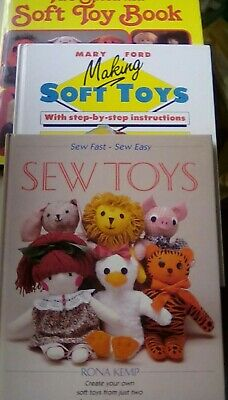 3 Toy Sewing Books, Sew Toys, Making Soft Toys, Splendid Soft Toy • 9.50£