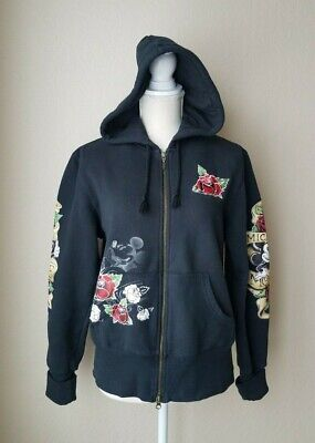Original Walt Disney Womens Ed Hardy Style Mickey Mouse Hoodie Size Large • 16.97£