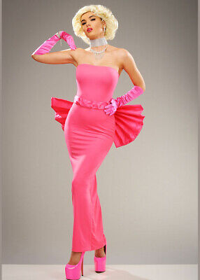 $59.83 • Buy Womens Pink Marilyn Costume With Bow