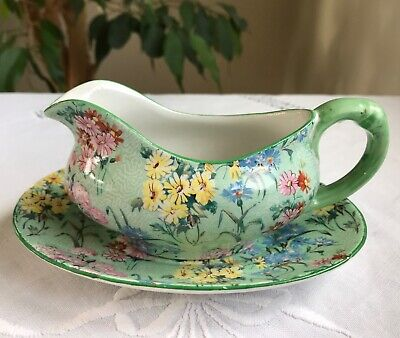 Shelley Melody Chintz Sauce Boat And Stand • 15£