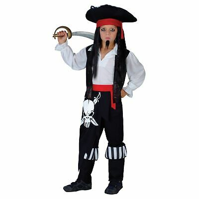 Childrens Captain Blackheart Caribbean Pirate Costume Fancy Dress Party Play • 13£