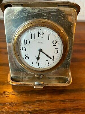 AU414.03 • Buy Beautiful Vintage Sterling Silver 8 Day Travel Pocket Watch With Free Shipping