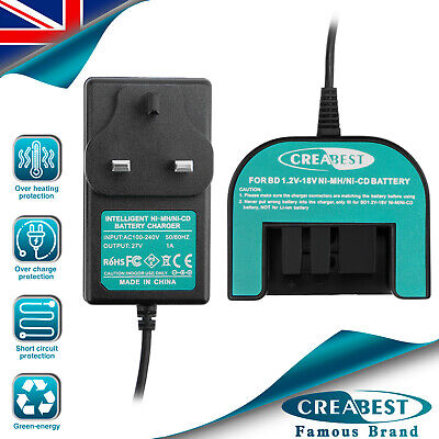 Charger For Black&Decker 1.2V-18V A1718 A18 HPB18 A14 A1712 A12 Ni-MH/CD Battery • 19.91£