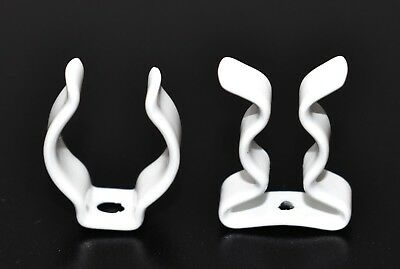 Tool Clips Nylon Coated Terry Spring Clip Open / Closed Type Plastic White Clips • 3.99£