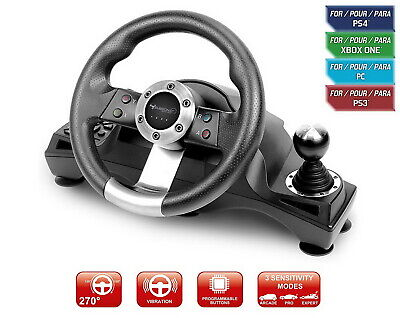 $127.95 • Buy Racing Steering Wheel Shifter Pedal Set For Playstation 4 PS4 Pro Xbox One S PS3