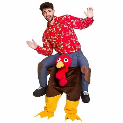 Carry Me Turkey Costume Adults Christmas Fancy Dress Party Fun Bird Halloween • 43.42£
