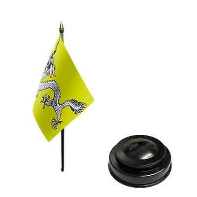 £5 • Buy Chinese Dragon  6  X 4  Desk Table Flag With Black Plastic Flat Base