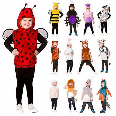 £13 • Buy Kids Animal Tabard Character Hood Tail Childs Fancy Dress Costume Age 3-5
