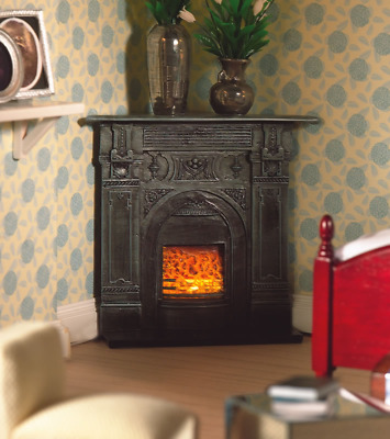1/12 Scale Dolls House Emporium Victorian Black Corner Fireplace Cast Iron 5953 • 9.95£