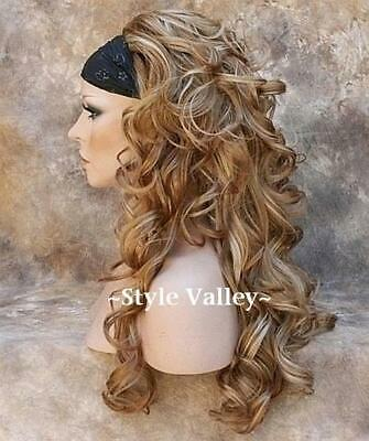 $54.91 • Buy Strawberry Blonde MIX 3/4 Fall HairPiece Long Curly Layered Half Wig Hair Piece