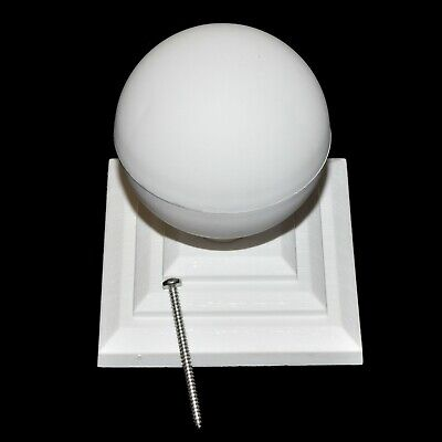 £8.79 • Buy WHITE PLASTIC FENCE POST CAP & BALL TO SUIT 3  75mm POST + STAINLESS SCREW
