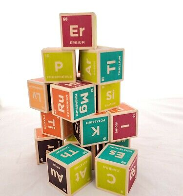 $29.99 • Buy Uncle Goose Elemental Periodic Table Wooden Blocks