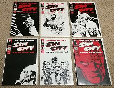 Sin City, A Dame To Kill For 1-6, 1994, #1 Signed By FRANK MILLER, Near Mint/VF • 95£