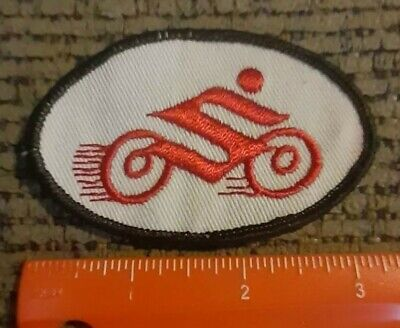 $7 • Buy Vintages 1980s Suzuki Motorcycle Racing Sew On Patch NEW