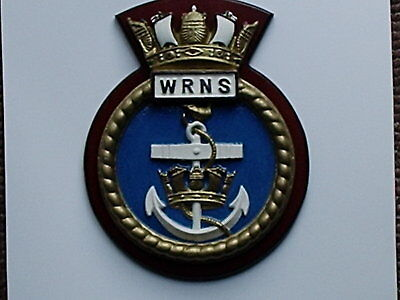 Wrns Ships Crest - Hms / Wrns  - 9/half By 8 Ins • 35£