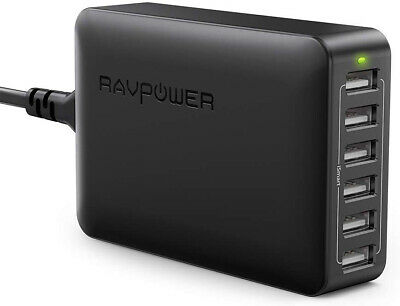 AU57.99 • Buy RAVPower USB Charger 60W 12A 6-Port Desktop USB Charging Station Multiple Port