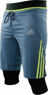 Adidas Tech 2 In 1 Mens Boxing Shorts Grey MMA Combat Training Gym Workout Short • 17.99£