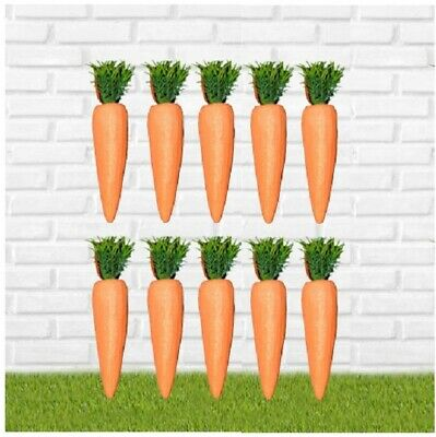 10pc Easter False Carrot Party Decoration Egg Hunt Craft Party Loot Basket Child • 2.49£