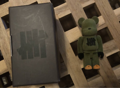 $213 • Buy BE@RBRICK Play Dirty UNDEFEATED TOKYO 3rd Anniv. 100% Flocky Bearbrick Medicom