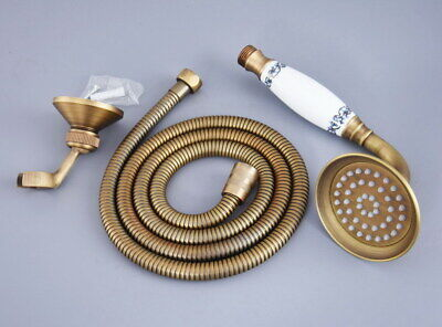 £29.99 • Buy Antique Brass Telephone Hand Held Shower Head Set With 1.5 Hose Wall Holder