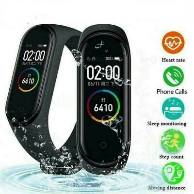 $ CDN11.64 • Buy M4 Smart Watch Band Blood Pressure Monitor Tracker Fitness Heart Rate Wristband